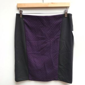 Laundry by Shelli Segal Blackberry A-Line Skirt 8